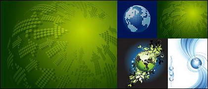 Matériau de vecteur pour le thème Terre