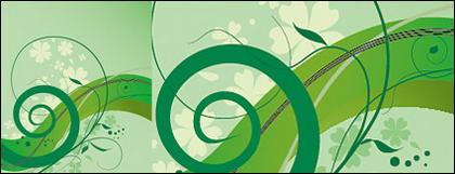 Simple motif vert