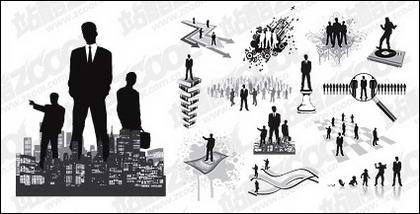 Berbagai bisnis tokoh dalam gambar vektor bahan