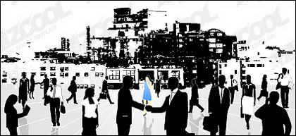 Vektor perkotaan bisnis elit bahan