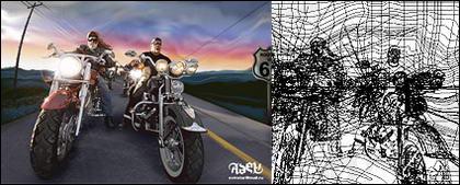 ไอการเรนเดอร์ที่เหมือนจริงของเจ้าของ Harley vector วัสดุ