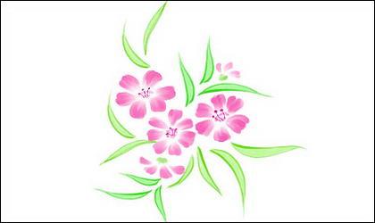 छोटे फूल हाथ से पेंट