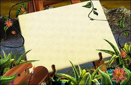 Gr�ne Rattan Pflanzen Sketchpad