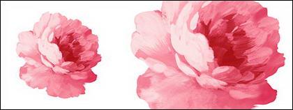 Flores pintados à mão em camadas de material psd-4