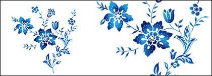 Flores pintados à mão em camadas de material psd-5