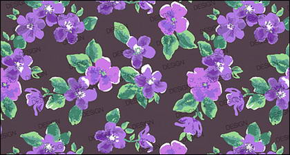 水彩画効果花 - 紫 psd 層状材料
