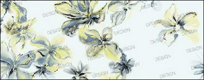 Efecto moda flor de tinta