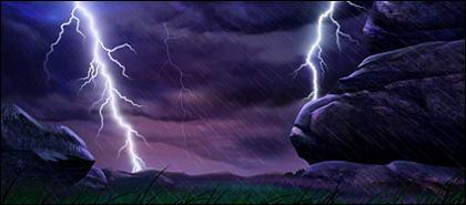 Молния сельской местности