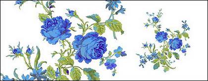 Flores pintados à mão em camadas de material psd-6