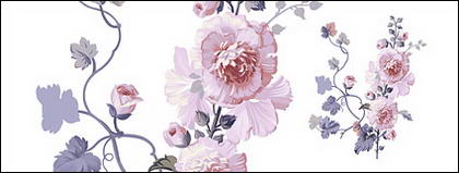 Flores pintados a mano por capas de material psd-11