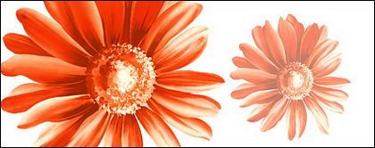 Flores pintados a mano por capas de material psd-12