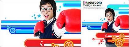 動的 psd の素材-13 の韓国の動向