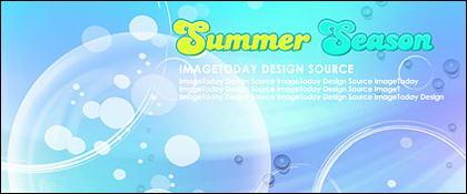 Material de apoio de estilo coreano de Verão em camadas psd-1