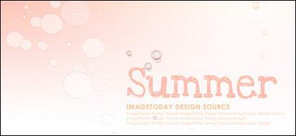 여름 한국 스타일 배경 자료 계층 psd-2