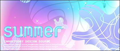 Material de apoio de estilo coreano de Verão em camadas psd-4