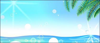 여름 한국 스타일 배경 자료 계층 psd-5
