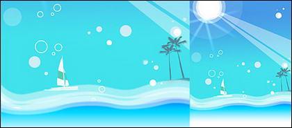 여름 한국 스타일 배경 자료 계층 psd-9