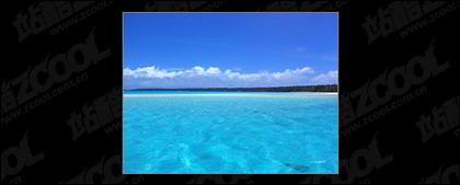 Blauer Himmel und Meer Qualität Bildmaterial
