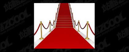Shop von dem roten Teppich der Treppe