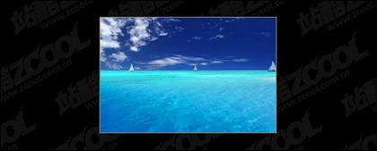 Blauer Himmel und Meer Bild Material-2