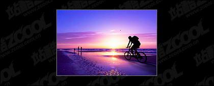 紫色の夕暮れ写真素材