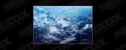 濃い雲画像素材