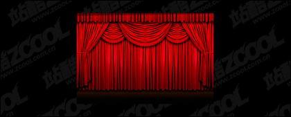 Material de calidad de imagen de cortina roja