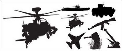 รูปภาพเวกเตอร์ทหารอาวุธวัสดุ