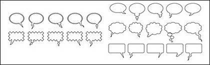 Vecteur de dialogue bulle élément