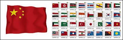 Matériau de drapeau de vecteur