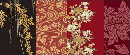 Vecteur série picturale traditionnelle 1-Plantes fleuries