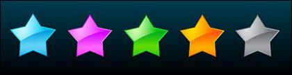 étoiles de style Web 2.0 vector matériel