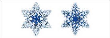 flocons de neige magnifiques vecteur matériel
