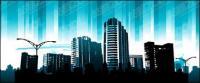 Синий город материал вектор