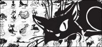 Вектор мультфильм cat материал