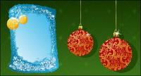 Рождественские украшения 2 элемента вектора материал