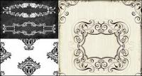European-style lace pattern vector