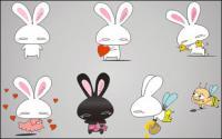 Любовь кролик вектор мультфильм