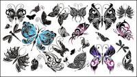 Красивая бабочка Тотем вектор