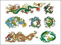 Китайская классическая Дракон вектор десять