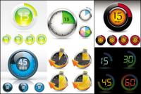 Часы и инструменты - вектор