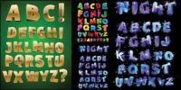 Объемные буквы вектор