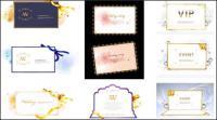 Материал векторных элементов красивой лентой