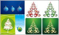 Рождественские повешение мяч, лента вектор