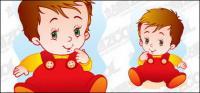 Милый ребенок векторного материала-2