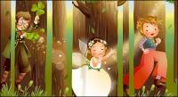 Изысканный стиль мультфильм иллюстрации векторный материал-6