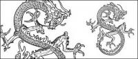 Китайский дракон вектор-3