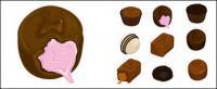Шоколадный векторного материала