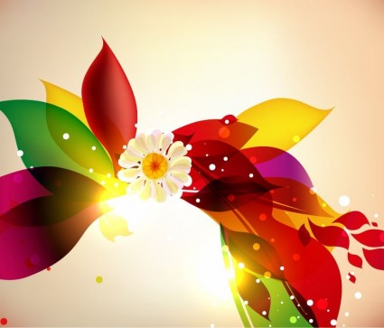 abstract colorful floral design vector background