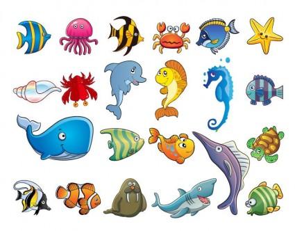Adobe marulk djur animerade akvarium vattenv xter - Clip art animali marini ...